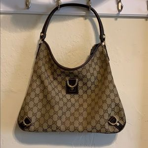 Authentic GUCCI Abbey D-Ring (monogram) Hobo Bag